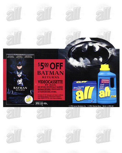 """all"" detergent - Batman Returns - Results in 21% increase in Dollar Share"