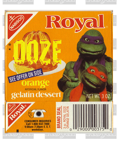 """Ooze"" themed Turtles promotion produced large sales for #2 Royal Ooze, surpassing the #1 brand, Jell-O in the market."